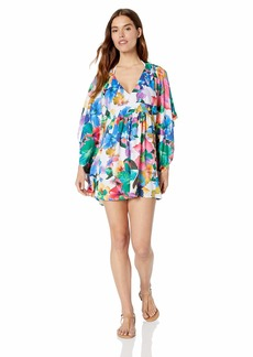 Nanette Lepore Women's V-Neck Beach Cover Up Caftan  M