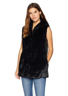 Nanette Lepore Women's Vegan Fur Coat  L