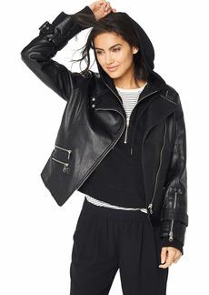 Nanette Lepore Women's Vegan Leather Biker Jacket  M