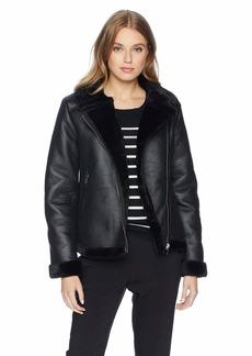 Nanette Lepore Women's Vegan Shearling Jacket  XL