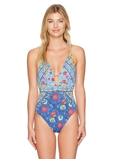 Nanette Lepore Women's Front Keyhole One Piece Swimsuit