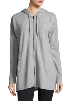 Nanette Lepore Zip-Front Hooded Tunic Hoodie