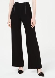 Nanette Lepore Zippered-Waist Wide-Leg Pants