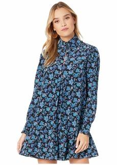 Nanette Lepore Paisley Silk Pintuck Dress