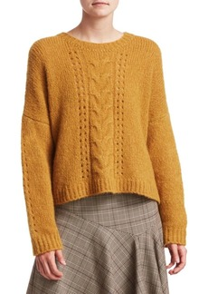 Nanette Lepore Perfect Cable-Knit Pullover