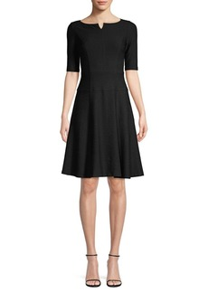 Nanette Lepore Perfect Textured Fit-&-Flare Dress