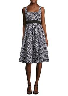 Plaid Printed Vineyard Dress