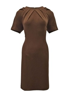 Nanette Lepore Pleated Neck Sheath Dress