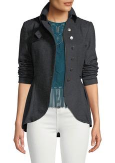 Nanette Lepore Poetic Peplum Wool Jacket