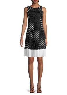 Nanette Lepore Polka Dot Pleated-Hem Dress