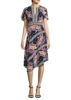 Primavera Floral Silk Dress