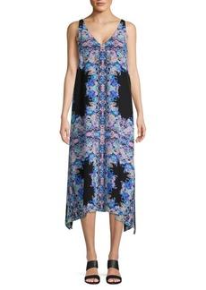 Nanette Lepore Printed Silk Midi Dress