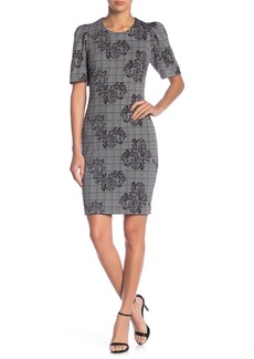 Nanette Lepore Puff Sleeve Printed Plaid Dress