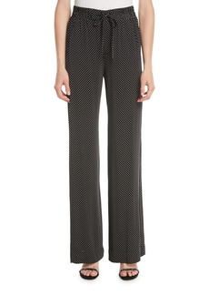 Nanette Lepore Pure Dot Jersey Pull-On Pants