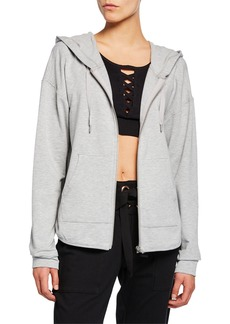 Nanette Lepore Racerback Cutout Hooded Jacket