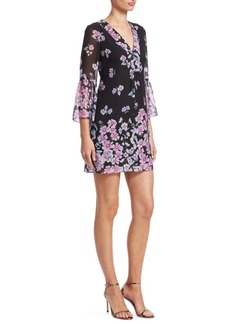 Nanette Lepore Revel Silk Floral Print Dress
