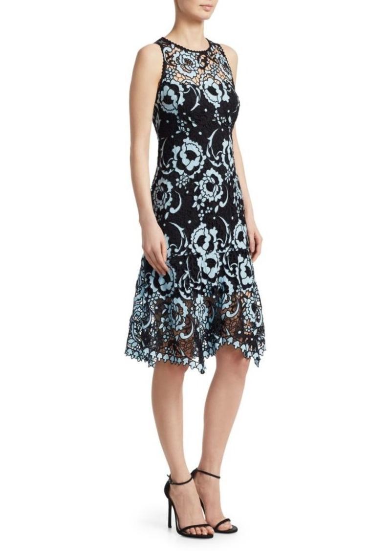 Nanette Lepore Rose Island Lace Knee-Length Dress