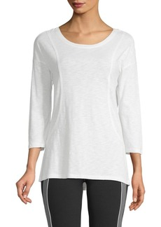 Nanette Lepore Roundneck Cotton-Blend Top