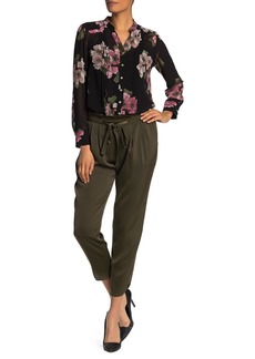 Nanette Lepore Drawstring Satin Crop Pants