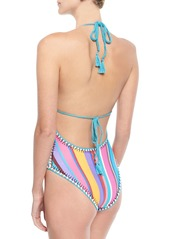 Nanette Lepore Sayulita Halter Striped One-Piece Swimsuit