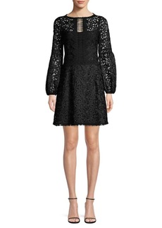Nanette Lepore Scenic Lace Fit-&-Flare Dress