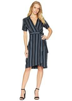 Nanette Lepore Serenity Stripe Wrap Shirtdress
