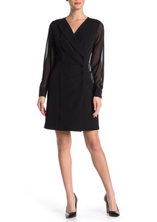 Nanette Lepore Sheer Sleeve Blazer Dress