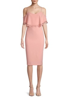 Nanette Lepore Short Sleeve Cold Shoulder Dress