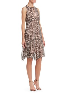Nanette Lepore Silk Print Frock Dress