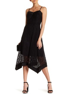 Nanette Lepore Sleeveless Lace Handkerchief Dress