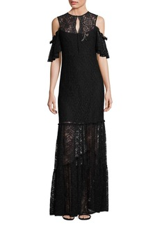 Nanette Lepore Song Lace Cold-Shoulder Gown