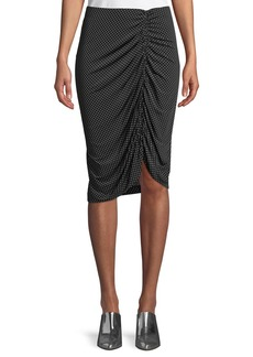 Nanette Lepore Spa Day Jersey Skirt in Polka Dots