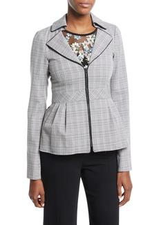 Nanette Lepore Star Crossed Zip Peplum Jacket