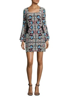 Nanette Lepore Stargazer Bell Sleeve Shift Dress