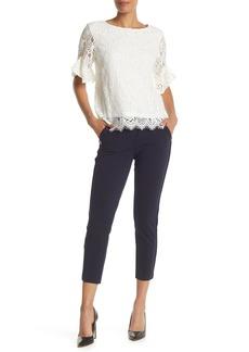 Nanette Lepore Straight Leg Button Detail Pants