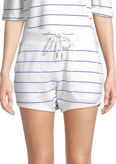 Nanette Lepore Striped Dolphin-Hem Shorts