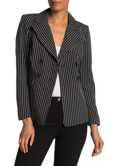 Nanette Lepore Striped Double Breasted Blazer