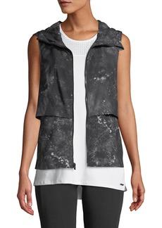 Nanette Lepore Studio to Street Pleated Hoodie Vest