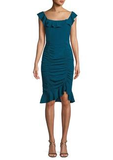 Nanette Lepore Sunset Silk Dress w/ Ruching