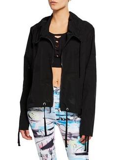Nanette Lepore Surry Hill Eyelet Ruched Sleeve Jacket