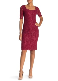 Nanette Lepore Sweetheart Lace Shift Dress