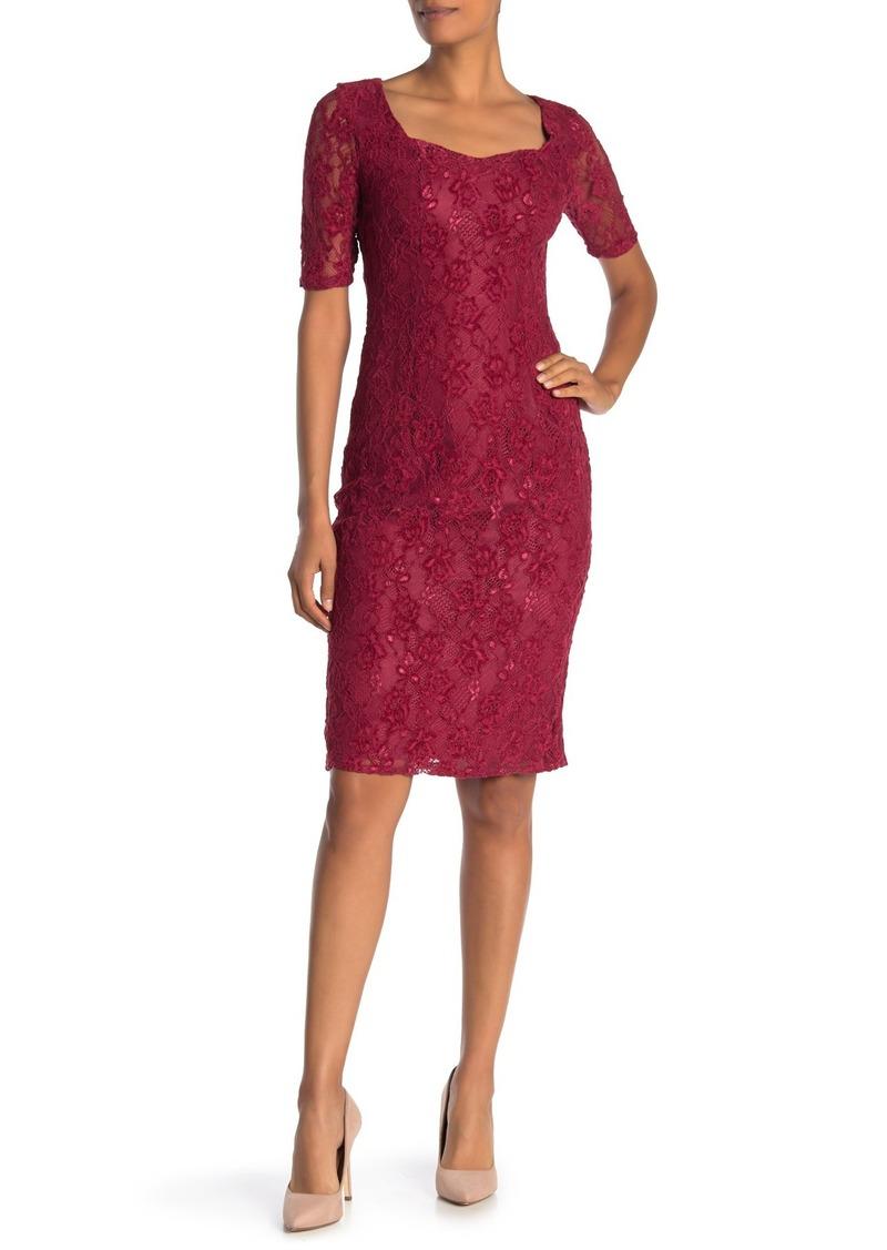 Nanette Lepore Sweetheart Lace Shift Dress