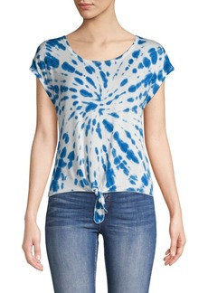 Nanette Lepore Tie-Dyed Tie-Front Top