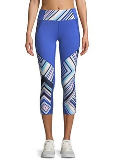 Nanette Lepore Track Striped Capri Leggings