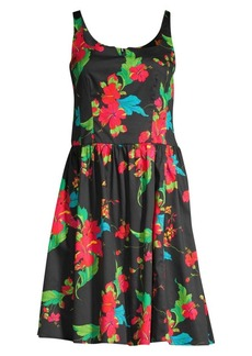 Nanette Lepore Tropical Print Cotton Dress