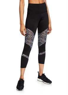 Nanette Lepore Ultra High-Waist Lace-Panel Leggings