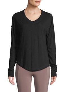 Nanette Lepore V-Neck Cotton-Blend Top