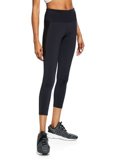 Nanette Lepore Vegan Leather Tuxedo Cropped Leggings