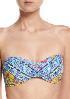 Nanette Lepore Woodstock Tease Bandeau Swim Top