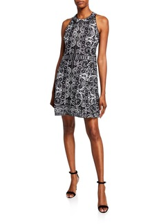 Nanette Lepore Zip Printed Halter Dress
